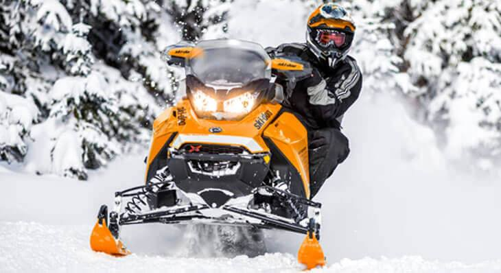 Orange and Black Snowmobile